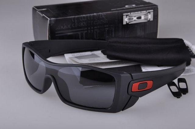 b727dd94a90 Cheap Oakley Batwolf Sunglasses Matte Black Frame Grey Lens Red Logo ...