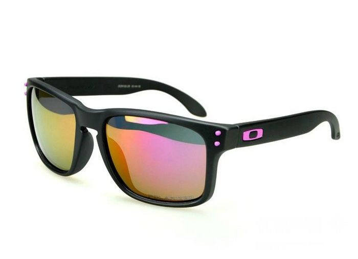 803d1f79c3 Cheap Oakley Holbrook Sunglasses OO Pink Matte Black Frame Fire Iridium