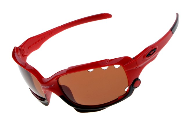 98a5f8c0bcf Cheap Oakley Jawbone Sunglasses Red Black Frame Bronze Lens Vented Sale