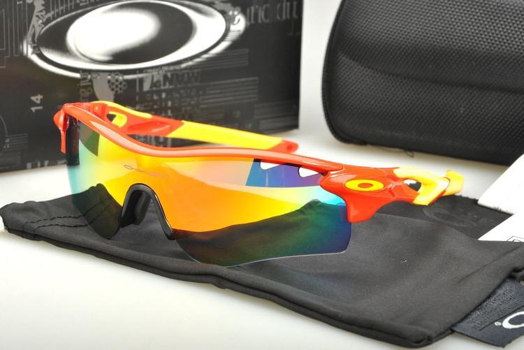 44f7e9c634 Cheap Oakley RadarLock Path Straight Stem Sunglasses Red Yellow Frame Fire  Iridium Vented