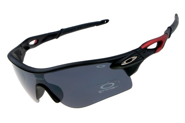 e37b3069b4 Cheap Oakley RadarLock Path Sunglasses Matte Black Red Sale